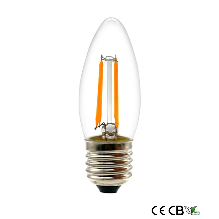 2w led filament candle bulb