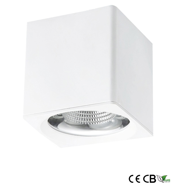 15W square surface mounted led downlights