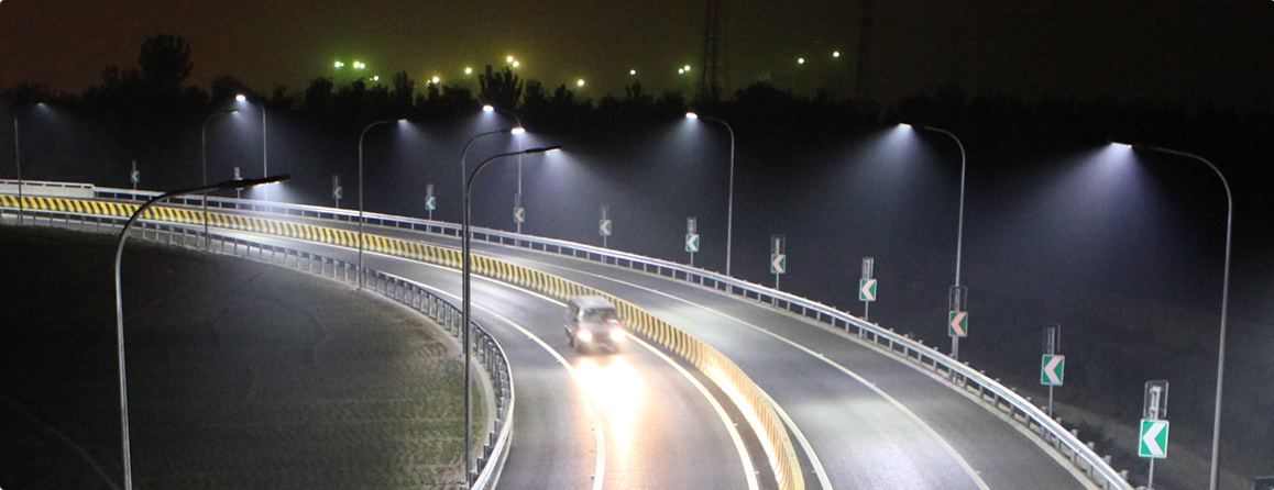 Slim led street light application